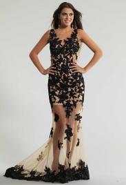 Вечерние платья для полных чёрные - GraceEvening.ru Москва 1c97a55df41