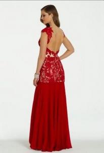 3490f6928d2 Красное платье в пол 1528