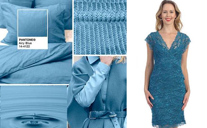Цветовая палитра платьев Airy Blue 14-4122 в салоне платьев GraceEvening