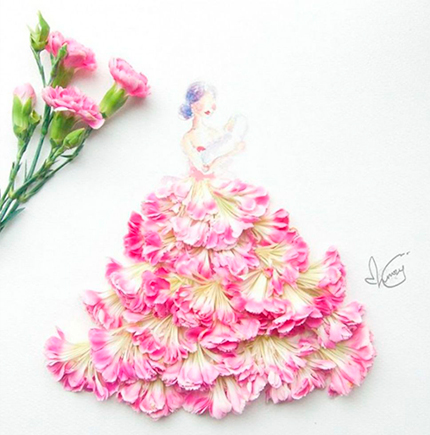 Акварельные платья художницы Лим Чжи Вэй