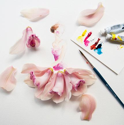 Цветочный проект художницы из Малайзии Лим Чжи Вэй
