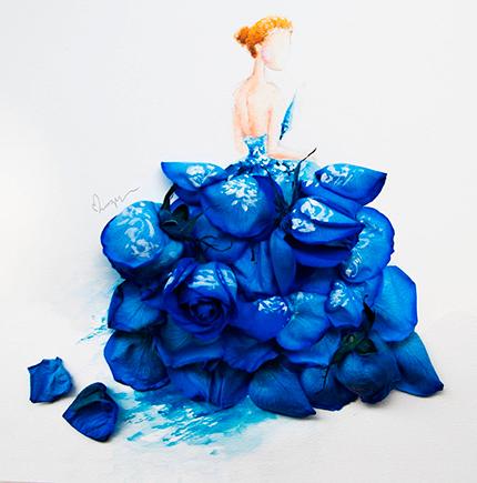 Цветочная акварель Лимзи