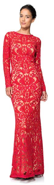 Красное кружевное платье рыбка Tadashi