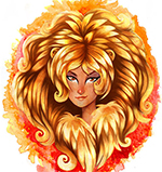 Знак Лев: золотой и оранжевый цвета