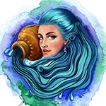 Знак Водолей: цвет морской волны