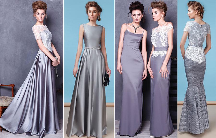 Серебристые новогодние платья. Салон GraceEvening