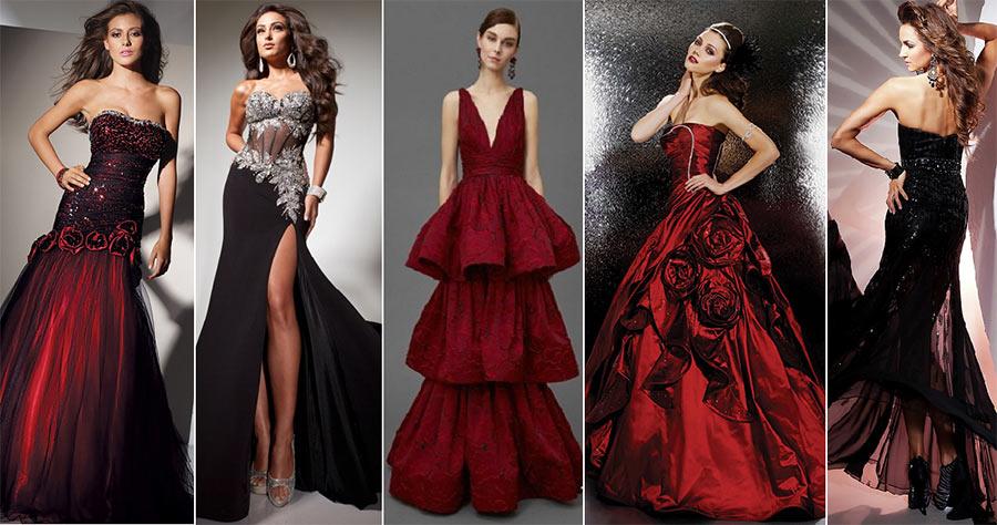 Гранатовые платья на Новый год. Салон платьев GraceEvening
