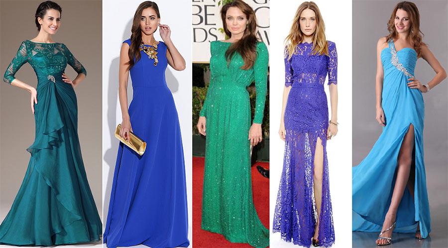 Красивые синие платья для Нового года. Салон платьев GraceEvening