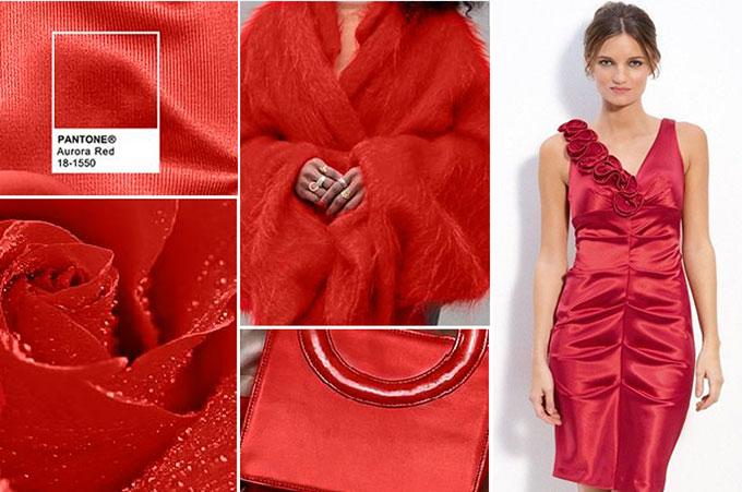 Цветовая палитра платьев Aurora Red 18-1550 в салоне платьев GraceEvening