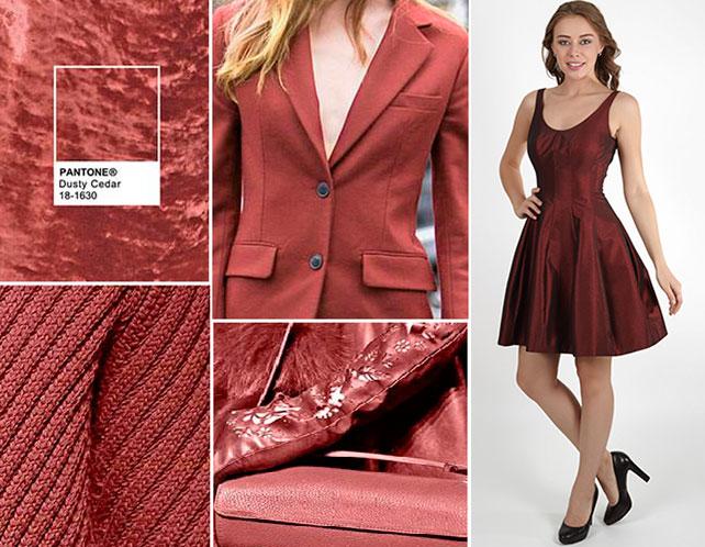 Цветовая палитра платьев Dusty Cedar 18-1630 в салоне платьев GraceEvening