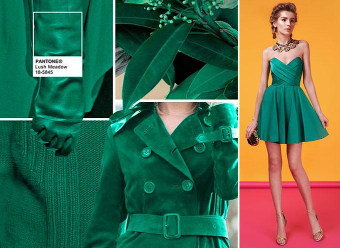 Цветовая палитра платьев Lush Meadow 18-5845 в салоне платьев GraceEvening