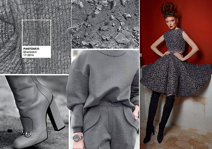 Цветовая палитра платьев Sharkskin 17-3914 в салоне платьев GraceEvening