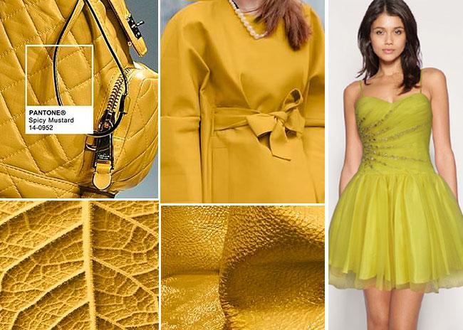 Цветовая палитра платьев Spicy Mustard 14-0952 в салоне платьев GraceEvening