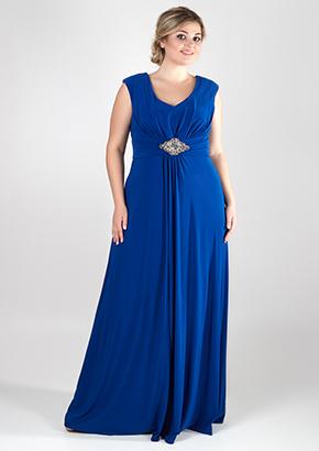Длинное синее платье для женщин 40+. Салон GraceEvening