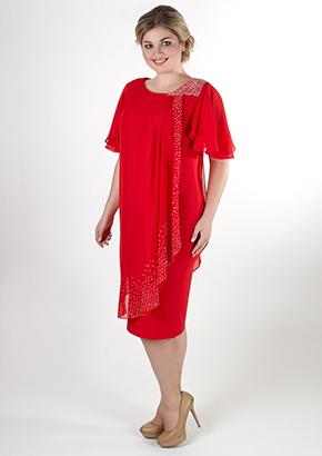 Красное шифоновое платье для женщин. Салон GraceEvening