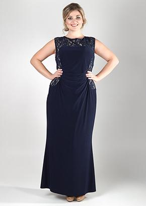 Вечернее трикотажное платье для полных женщин. Салон GraceEvening