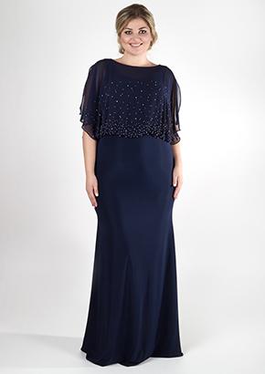 Элегантное синее платье для женщин 40+. Салон GraceEvening