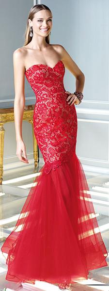Красное платье русалка Alyce Paris