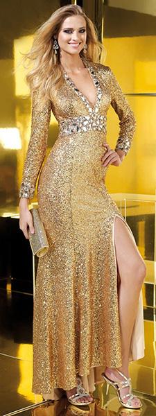 Золотое платье Alyce Paris