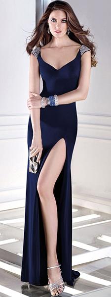 Вечернее платье с высоким разрезом Alyce Paris