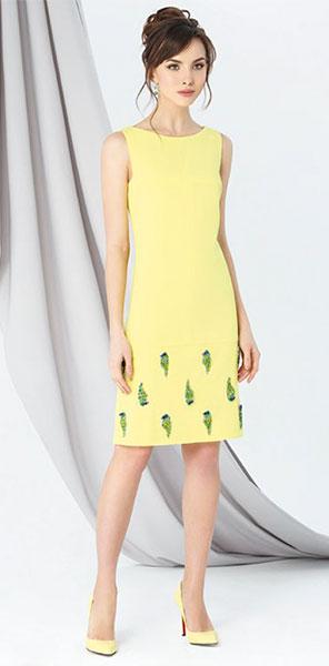 Прямое желтое платье Emse