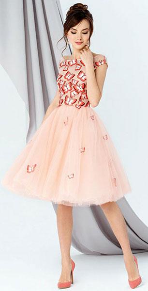 Короткое платье с пышной юбкой Emse