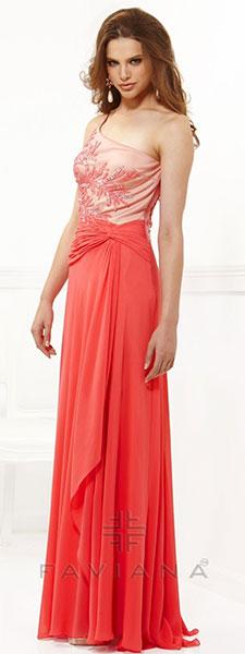 Платье со сложной драпировкой Faviana