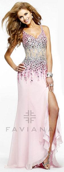 Платье с высоким разрезом Faviana