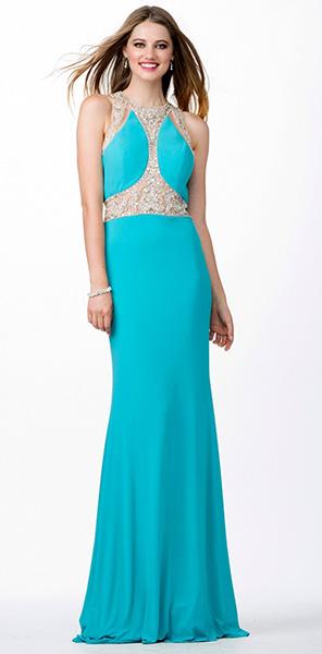 Вечернее голубое платье Jovani