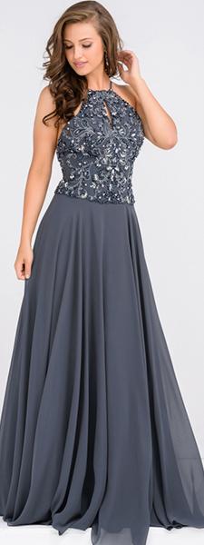 Элегантное платье с расшитым лифом Jovani
