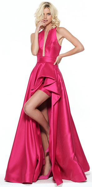 Платье короткое спереди длинное сзади Sherri Hill