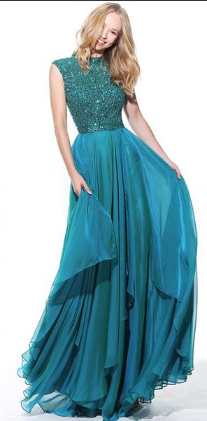 Платье вечернее с закрытым лифом Sherri Hill