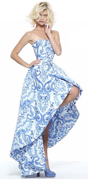 Стильное платье короткое спереди с принтом Sherri Hill