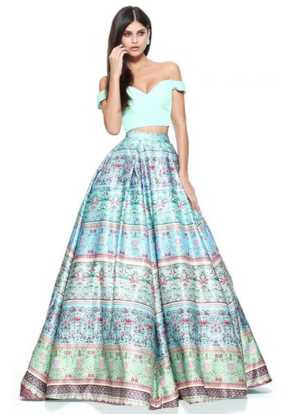 Раздельное платье со спущенными плечами Morell Maxie