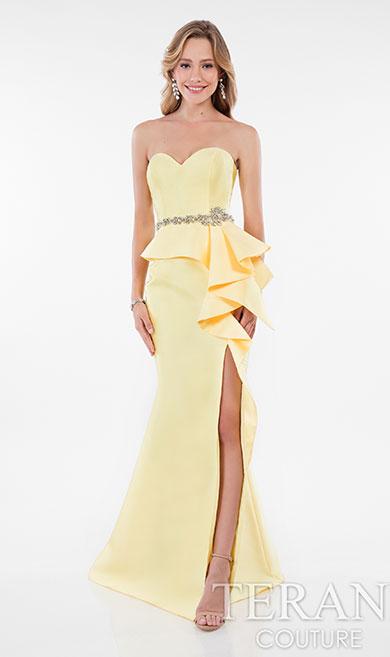 Вечернее платье с открытыми плечами Terani