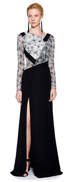 Стильное черно-белое платье Tadashi Shoji