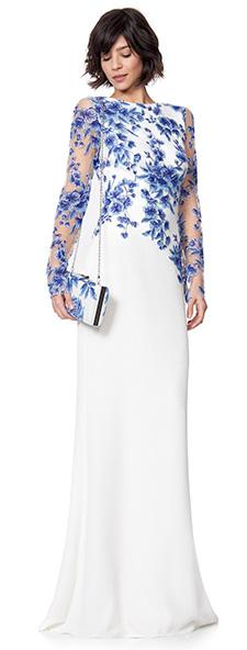 Вечернее платье с длинным рукавом Tadashi Shoji