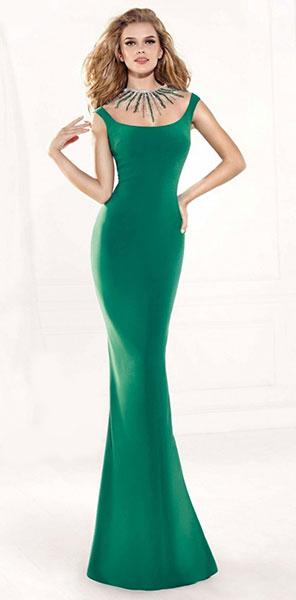 Платье силуэт рыбка Tarik Ediz