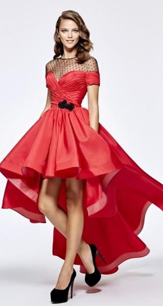 Роскошное пышное красное платье Tarik Ediz