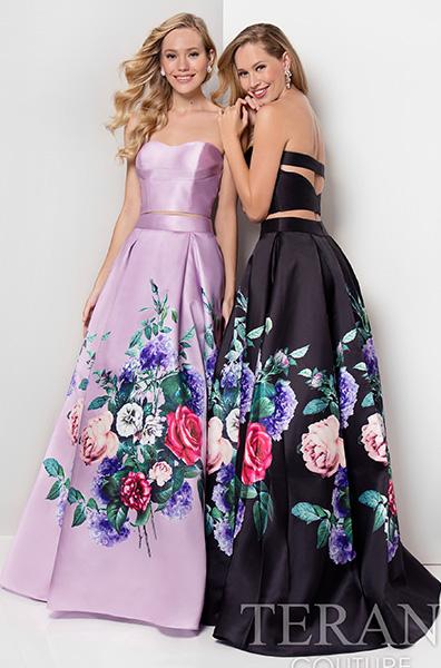 Роскошные платья с цветочным принтом Terani