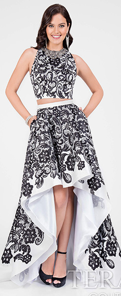 Платье короткое спереди Terani