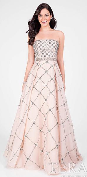 Нежное платье без бретелей Terani Couture