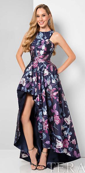 Оригинальное платье с цветочным принтом Terani Couture