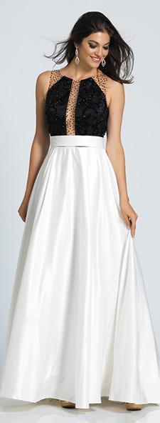 Платье черно-белое Dave Johnny