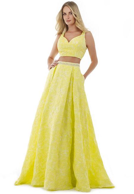 Раздельное платье желтого цвета Morrell Maxie