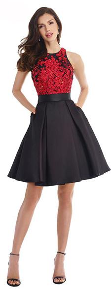 Короткое платье с расклешенной юбкой Morell Maxie