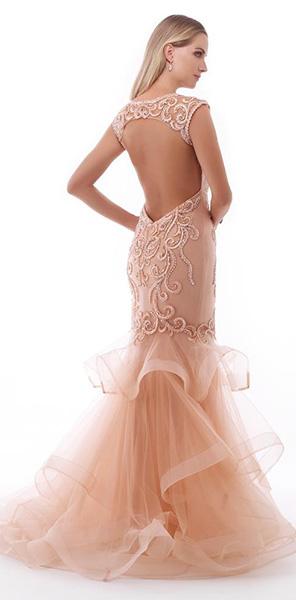 Платье русалка с открытой спиной Morell Maxie