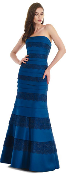 Синее платье без бретелей Morell Maxie