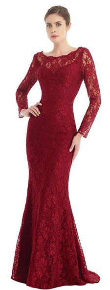 Кружевное платье с длинным рукавом Morell Maxie