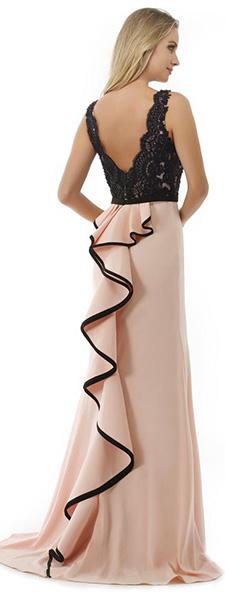 Вечернее платье с оригинальным шлейфом Morell Maxie